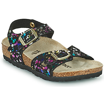 Schoenen Meisjes Sandalen / Open schoenen Birkenstock RIO Zwart / Multicolour