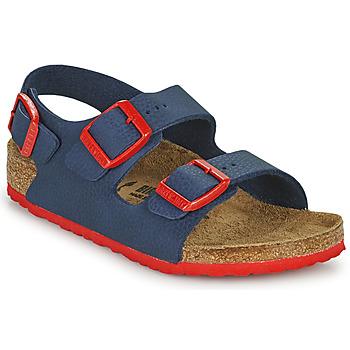 Schoenen Jongens Sandalen / Open schoenen Birkenstock MILANO Blauw / Rood