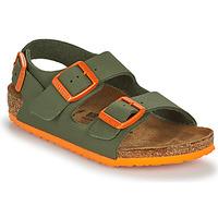 Schoenen Jongens Sandalen / Open schoenen Birkenstock MILANO Kaki / Oranje