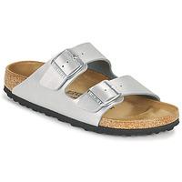Schoenen Dames Leren slippers Birkenstock ARIZONA Zilver