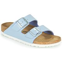 Schoenen Dames Leren slippers Birkenstock ARIZONA Blauw