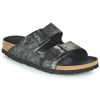 Schoenen Dames Leren slippers Birkenstock ARIZONA Zwart