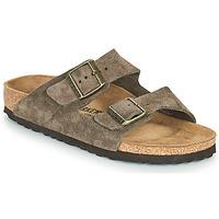 Schoenen Dames Leren slippers Birkenstock ARIZONA Bruin