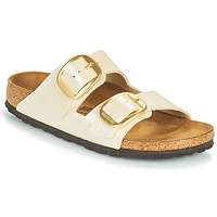 Schoenen Dames Leren slippers Birkenstock ARIZONA BIG BUCKLE Wit