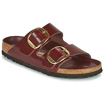 Schoenen Dames Leren slippers Birkenstock ARIZONA BIG BUCKLE Bordeau