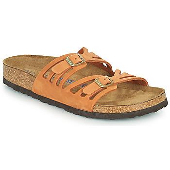 Schoenen Dames Leren slippers Birkenstock GRANADA SFB Oranje