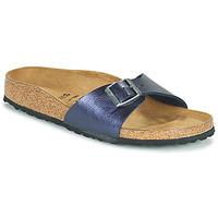 Schoenen Dames Leren slippers Birkenstock MADRID Blauw