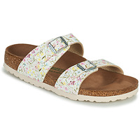 Schoenen Dames Leren slippers Birkenstock SYDNEY Wit