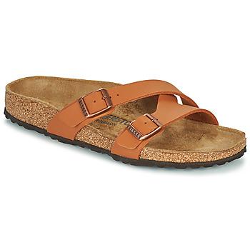 Schoenen Dames Leren slippers Birkenstock YAO BALANCE Bruin