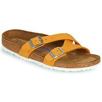 Schoenen Dames Leren slippers Birkenstock YAO BALANCE SFB Oranje