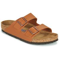 Schoenen Heren Leren slippers Birkenstock ARIZONA SFB Bruin