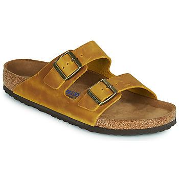 Schoenen Heren Leren slippers Birkenstock ARIZONA SFB Geel