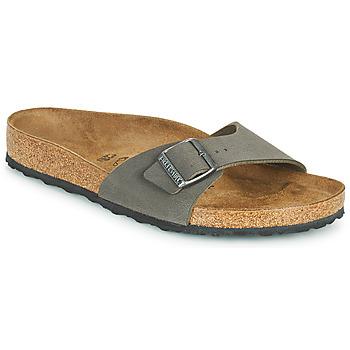 Schoenen Heren Leren slippers Birkenstock MADRID Grijs