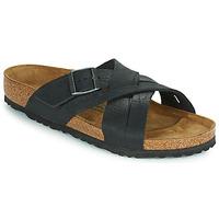 Schoenen Heren Leren slippers Birkenstock LUGANO Zwart
