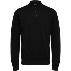 Textiel Heren Polo's lange mouwen Selected 16074686 Nero