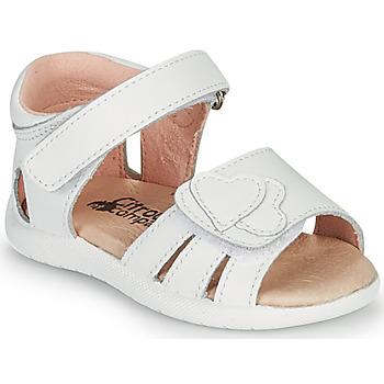 Schoenen Meisjes Sandalen / Open schoenen Citrouille et Compagnie OLESS Wit