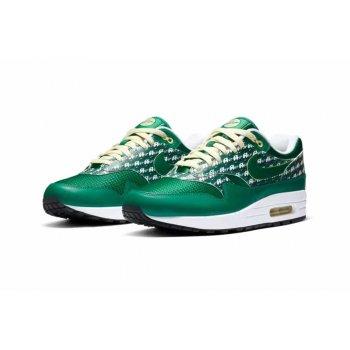 Schoenen Lage sneakers Nike Air Max 1 Powerwall Limonade PINE GREENPINE GREEN-TRUE WHITE