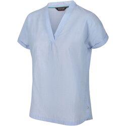 Textiel Dames T-shirts korte mouwen Regatta  Blauwe luchten