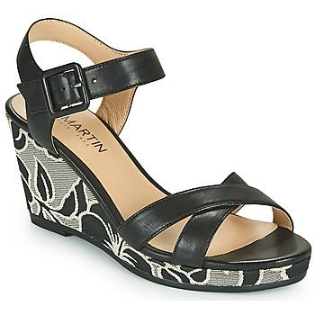 Schoenen Dames Sandalen / Open schoenen JB Martin QUERIDA Zwart / Grijs