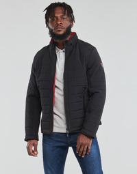 Textiel Heren Dons gevoerde jassen Guess  Zwart / Oranje