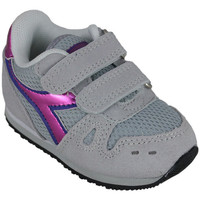 Schoenen Meisjes Running / trail Diadora simple run td girl 65010 Roze