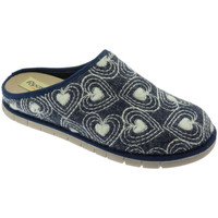 Schoenen Dames Leren slippers Riposella RIP2626blu blu
