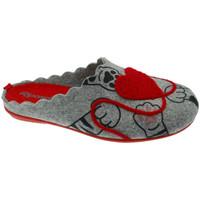 Schoenen Dames Leren slippers Riposella RIP4517gr grigio