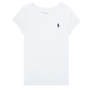 Textiel Meisjes T-shirts korte mouwen Polo Ralph Lauren ZALLIE Wit