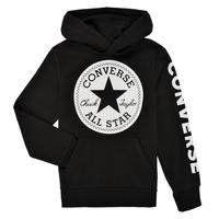 Textiel Jongens Sweaters / Sweatshirts Converse SIGNATURE CHUCK PATCH HOODIE Zwart