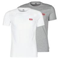 Textiel Heren T-shirts korte mouwen Levi's 2PK CREWNECK GRAPHIC Wit