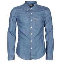 Textiel Heren Overhemden lange mouwen Levi's SUNSET 1 PKT SLIM Blauw