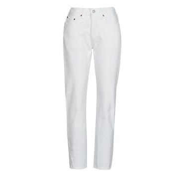 Textiel Dames Boyfriend jeans Levi's 501 CROP Wit