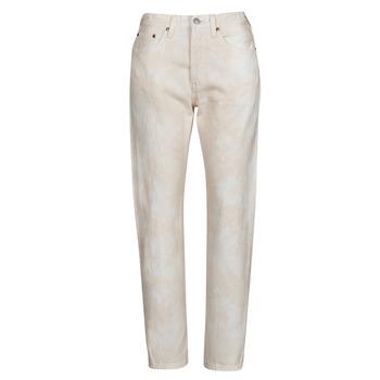 Textiel Dames Boyfriend jeans Levi's 501 CROP  perzik