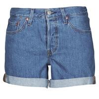Textiel Dames Korte broeken / Bermuda's Levi's 501 ROLLED SHORT Blauw