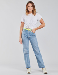 Textiel Dames Straight jeans Levi's RIBCAGE STRAIGHT ANKLE Blauw