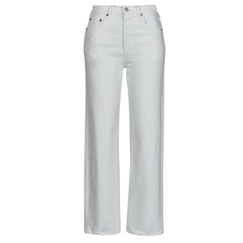 Textiel Dames Straight jeans Levi's RIBCAGE STRAIGHT ANKLE Wit