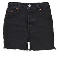 Textiel Dames Korte broeken / Bermuda's Levi's RIBCAGE SHORT Zwart