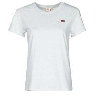 Textiel Dames T-shirts korte mouwen Levi's PERFECT TEE Grijs