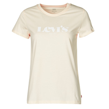 Textiel Dames T-shirts korte mouwen Levi's THE PERFECT TEE Beige