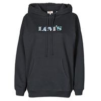 Textiel Dames Sweaters / Sweatshirts Levi's GRAPHIC RIDER HOODIE Zwart