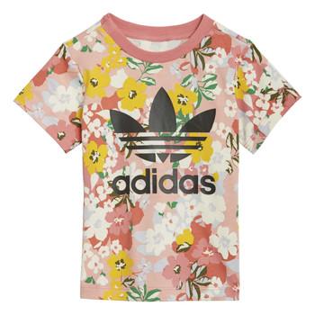 Textiel Meisjes T-shirts korte mouwen adidas Originals GN2262 Multicolour