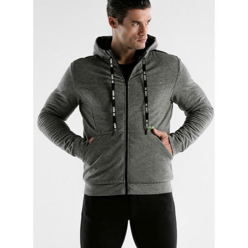 Textiel Heren Trainings jassen Code 22 Kerncode22 Hooded Sports Jacket Lichtgrijs