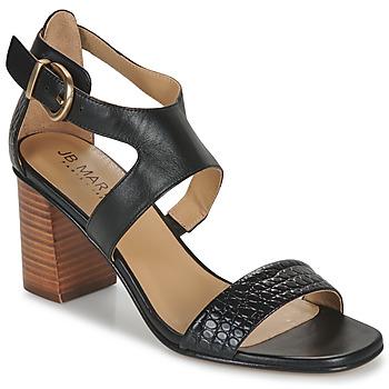 Schoenen Meisjes Sandalen / Open schoenen JB Martin 1NAWELI Zwart / Grijs