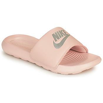 Schoenen Dames slippers Nike VICTORI ONE BENASSI Roze / Zilver