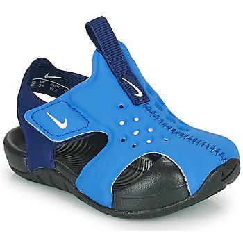 Schoenen Jongens slippers Nike SUNRAY PROTECT 2 TD Blauw