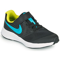 Schoenen Jongens Allround Nike STAR RUNNER 2 PS Zwart / Blauw