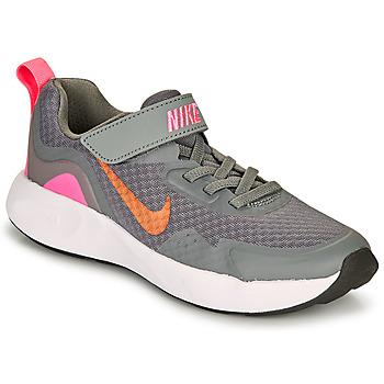 Schoenen Meisjes Allround Nike WEARALLDAY PS Grijs / Roze