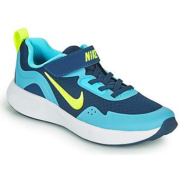 Schoenen Jongens Allround Nike WEARALLDAY PS Blauw / Groen