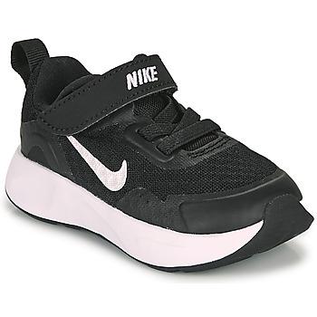 Schoenen Kinderen Allround Nike WEARALLDAY TD Zwart / Wit