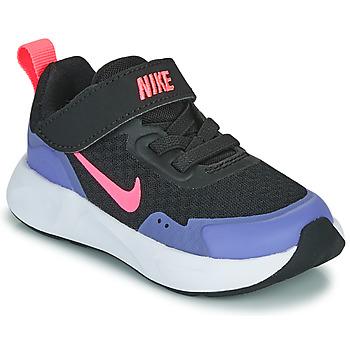 Schoenen Meisjes Allround Nike WEARALLDAY TD Zwart / Blauw